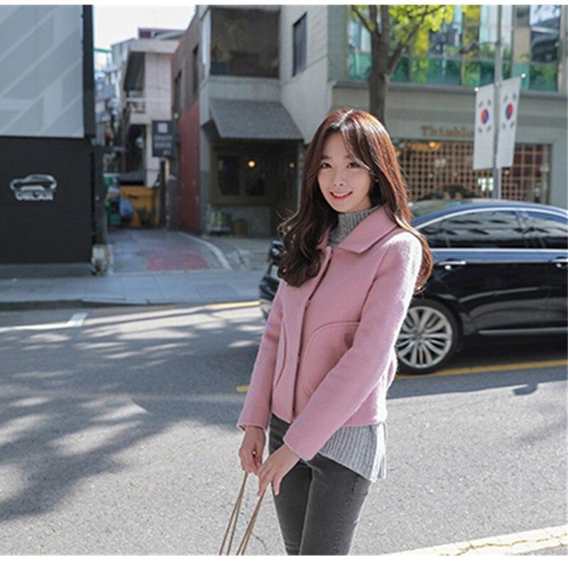 Veste Zl0982 Pzlcxh Survêtement Femmes Élégant Automne Taille pink Courte Plus Beige La Nouvelle Laine Hiver Tranchée Manteau De 2018 aaqtx5AwrZ