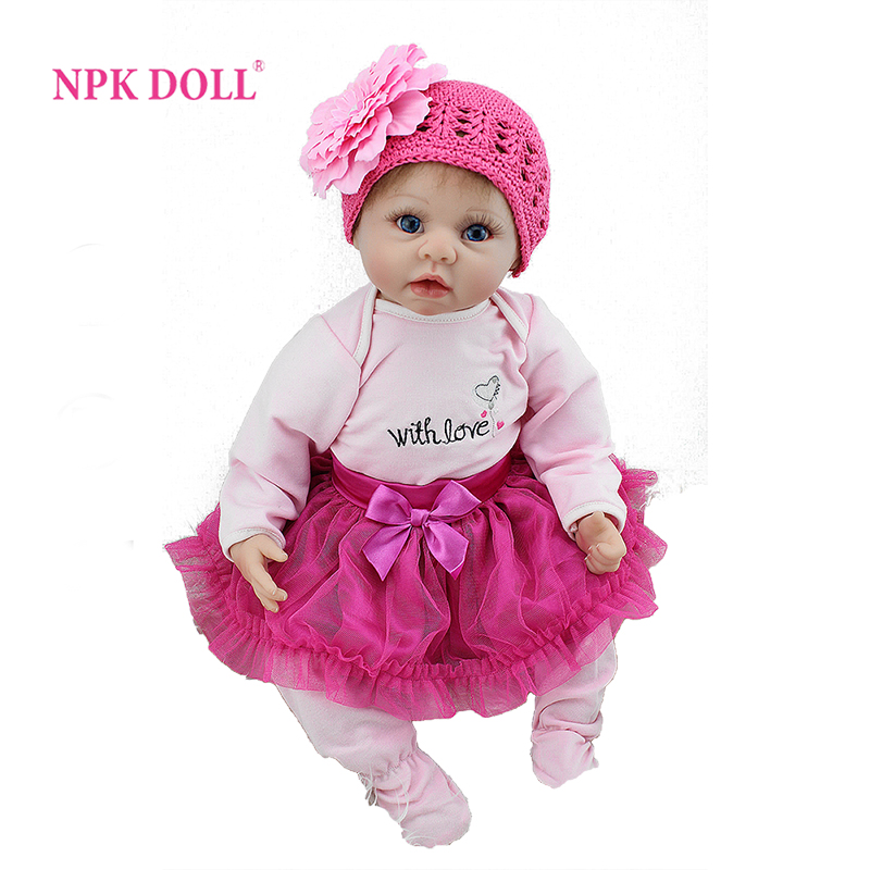 22 inch Soft Like Silicone Reborn Baby Doll Lifelike Realistic Princess Newborn Babies Toys For Girls Gift Magnetic Dummy леггинсы спорт barkito