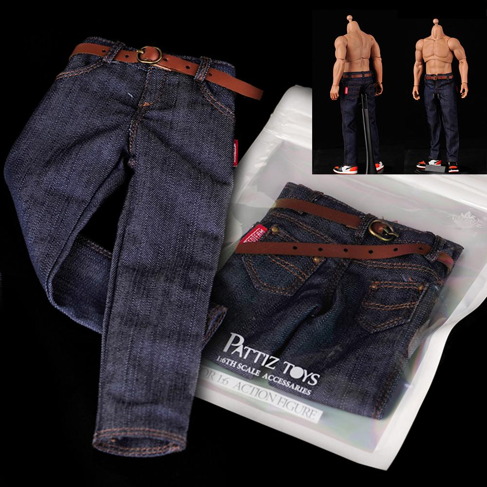 1/6 Scale Male Action Figure Dressup Accessories Mini Classic Jeans Accessories For Soldier Military Model Modified Clothes 2019