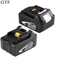GTF 18V 6000Mah Cordless Power Tool Battery for Makita 194309 BL1815 BL1830 BL1840 BL1860 Replacement Li-ion Battery Accumulator 3pcs 18v bl1860 li ion 6000mah replacement for makita 18v bl1840 bl1830 bl1850 rechargeable power tool battery with usb adapter