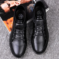Fashion Autumn Winter Low Top Lace Up Genuine Leather with Plush Keep Warm Male Casual Shoes Plus Size 37-47