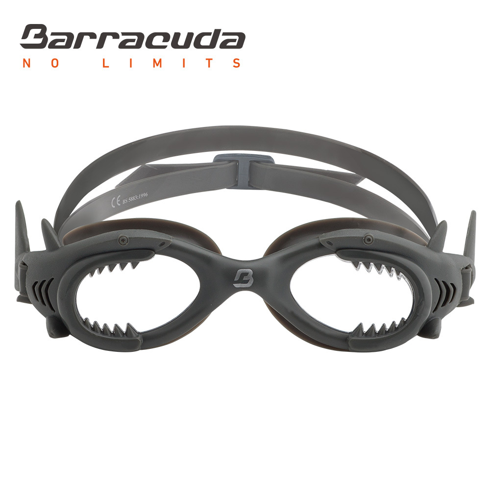 Barracuda Junior Swim Goggle SHARK One-piece Frame Soft Seals Anti-fog UV protection Easy Adjusting for Kids Children #13020 ...