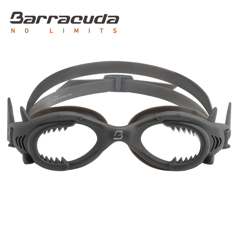 Barracuda Junior Swim Goggle SHARK One-piece Frame Soft Seals Anti-fog UV protection Eas ...