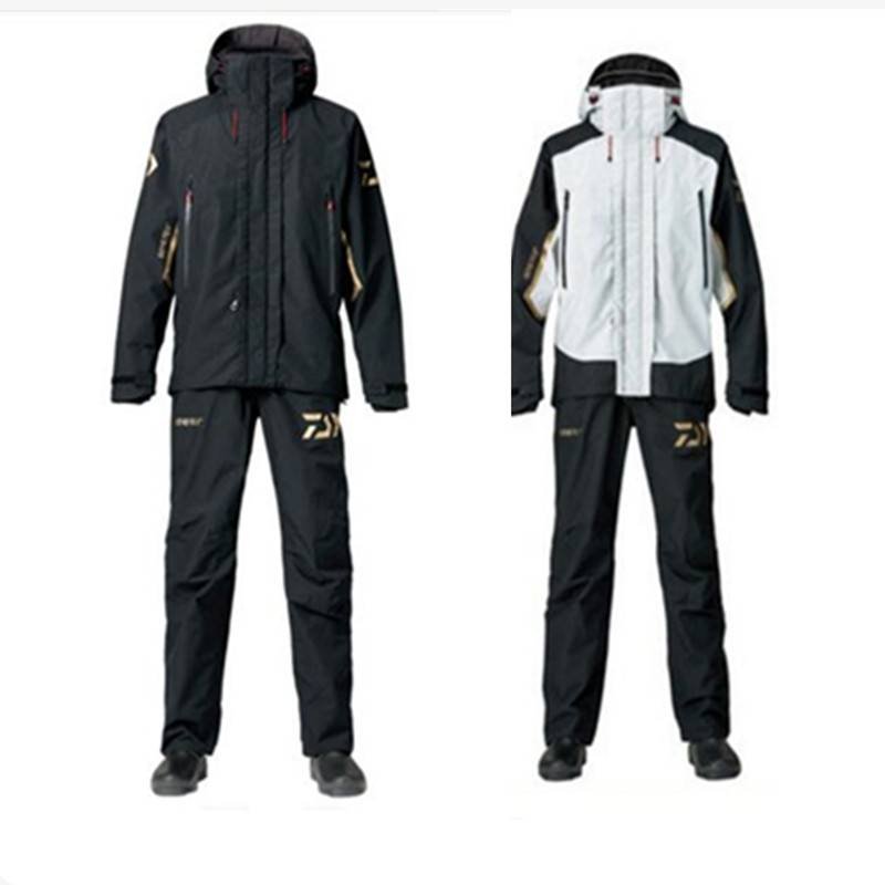 2018 de Haute Qualité De Pêche Vêtements Ensembles Hommes Veste Sport En Plein Air Respirable Costume D'hiver Chemise De Pêche Pantalon De Pêche Vêtements