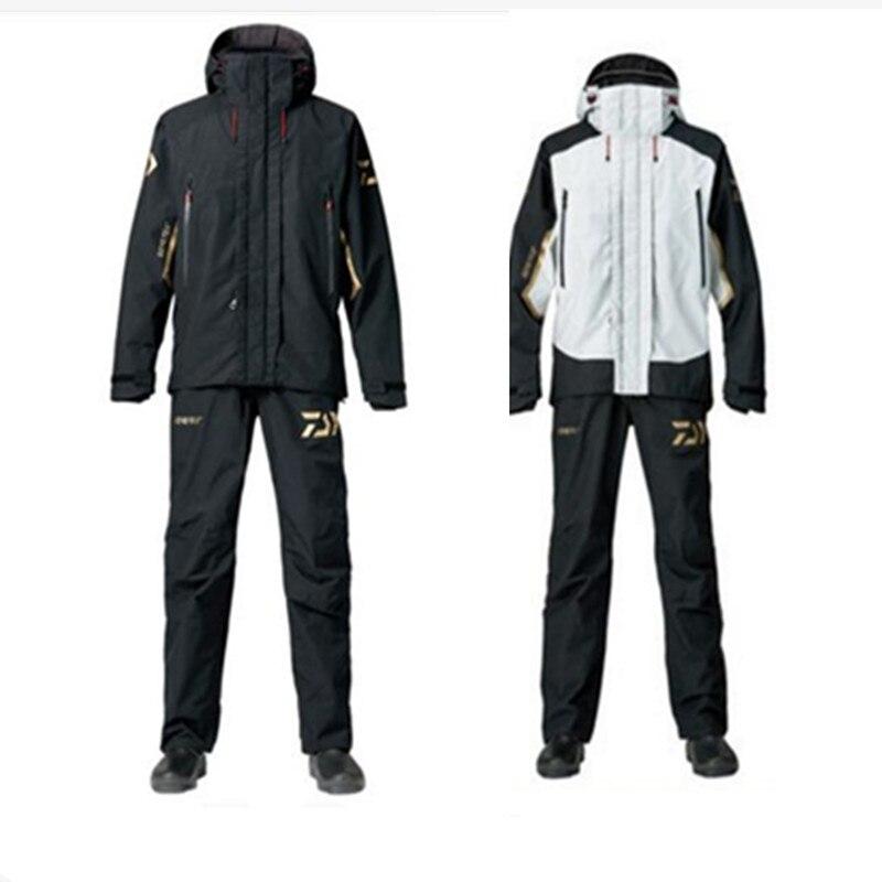 2018 de alta calidad de la pesca ropa hombres chaqueta al aire libre respirable ropa deportiva invierno pesca camisa pantalones ropa de pesca