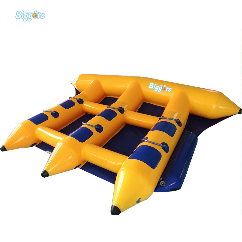 Inflatable Water Games Banana Boat Inflatable Fly Fish Banana Boat 6 People Playing On The Beach For Sale  free shipping 3 3 1 2m water banana boat for sport games
