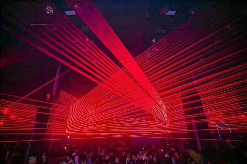 5600MW Moving head RED laser array R638NM 700mW rough spotX8PCS stage party disco KTV bar club theatre studio iluminacion light - 4