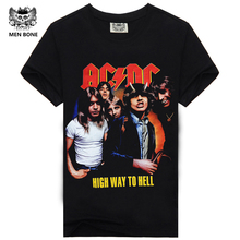 [Men bone] paragraph 9 cartoon rock crime men t-shirts AC DC hip hop fashion heavy metal t shirt