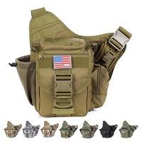 Men Motorcycle Saddle Water Bottle/Kettle Bag Riding Sling Chest Day Pack High Quality Nylon Military Messenger Shoulder Bag