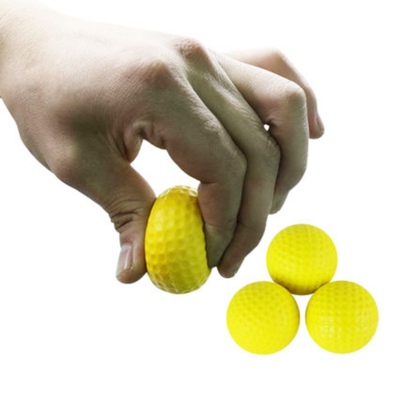 4.2CM Bright Color Light Indoor Outdoor Golf Balls Training Practice Golf Balls Sports Elastic PU Foam Practice Golf Balls