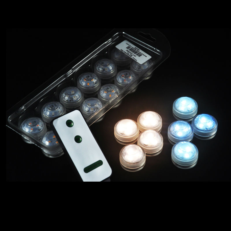 10pcs Wedding Decoration Remote Control Waterproof Submersible Led Party Tea Mini Light With Battery For Christmas In Holiday Lighting From Lights