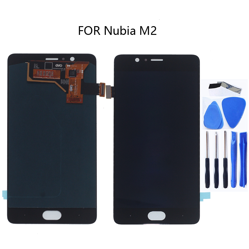 "5.5"" AMOLED Display For ZTE Nubia m2 NX551J LCD Display touch screen digitizer Accessories for ZTE Nubia m 2 display Repair kit-in Mobile Phone LCD Screens from Cellphones & Telecommunications"