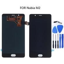 """5.5 """"Amoled ディスプレイ Zte ヌビア m2 NX551J Lcd ディスプレイタッチスクリーンデジタイザアクセサリー zte ヌビア m 2 ディスプレイの修理キット"""