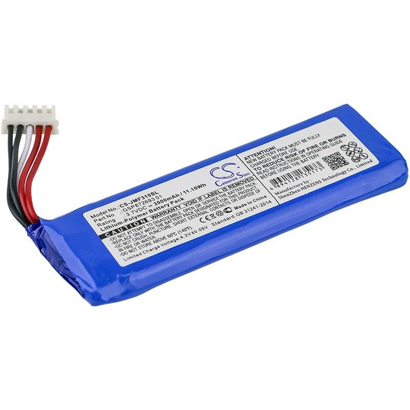 Cameron Sino 3000mAh Battery GSP872693 01 for JBL Flip 4 Flip 4 Special Edition
