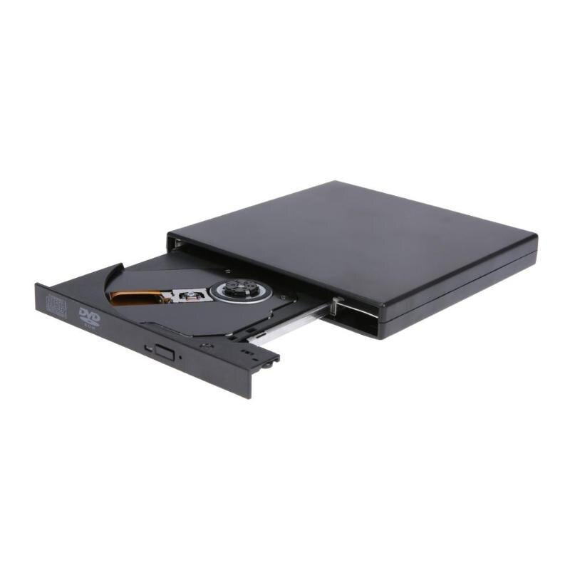 ALLOYSEED portátil ultrafino USB2.0 Puerto externo DVD-ROM disco CD/DVD escritor/quemador para Notebook