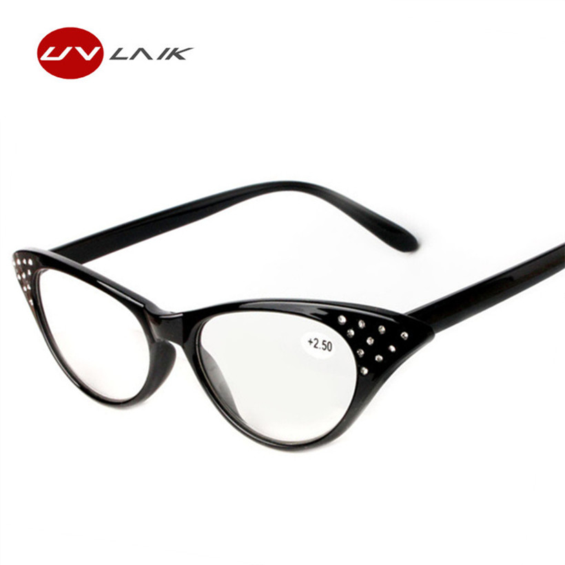 Cat Eye Reading Glasses Wanita Presbyopic Eyeglasses Slim Spectacles With Spring Hinge reading glasses1.5 2.0 2.5 3.0 3.5 Diopter