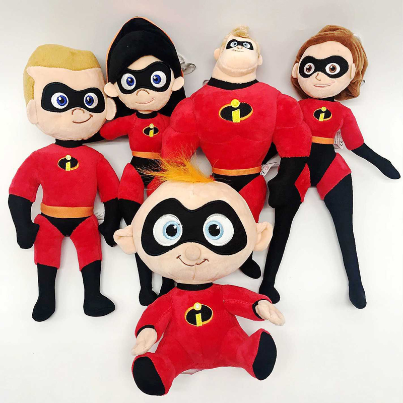 20-25cm The Incredibles 2 Plush Toy Doll Mr. Incredible Family Helen Jack Bob Parr Plush Stuffed Toys for Children Kids Gift casey helen family