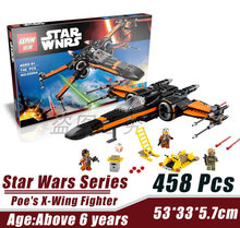 LEPIN 05004 Star Wars Space Wars Poe's X-Wing Fighter Minifigures Building Block Minifigure Compatible With Legoe 75102 Toys