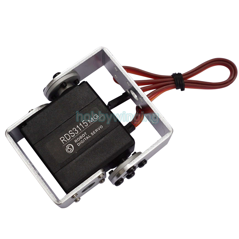 Robot Servo RDS3115/3120 Metal Gear Dual digital Servo with Bracket kit-1 for Robotic arduino DIY 17-22kg/cm 180/270 degree 35kg high torque coreless motor servo rds3135 180 deg metal gear digital servo arduino servo for robotic diy rc car