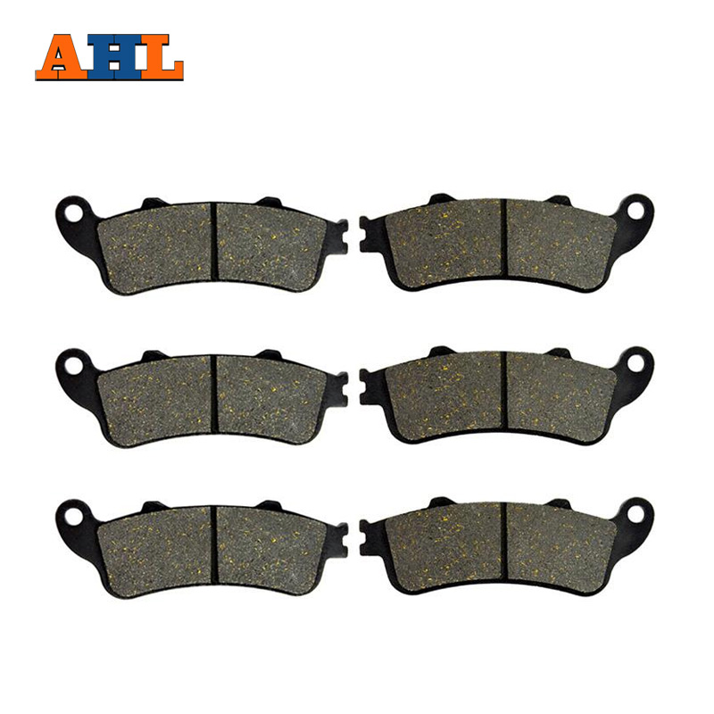 AHL 3 Pairs Motorcycle Brake Pads For HONDA VFR 800 VFR800 Interceptor 1998-2005 Black Brake Disc Pad economic bicycle brake pads black 4 pcs