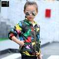 New Arrival Spring/Autumn Boy and Girls Outwear Children's Camouflage Hooded Kids Jackets Handsome Kid Long Sleeve Windbreaker
