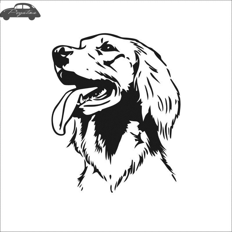 Pegatina Car Golden Retriever Dog Sticker Pet Shop Decal Posters Vinyl Wall Art Decals Decor Mural Pet Shop Sticker