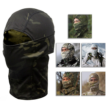 купить Hunting Camouflage Balaclava Full Face Mask Wargame Cycling Motorcycle Paintball Army Military Helmet Liner Tactical Airsoft Cap дешево
