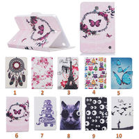 For Samsung Galaxy Tab 4 8 0 T330 T331 T335 Case Painting Style Pu Leather Stand