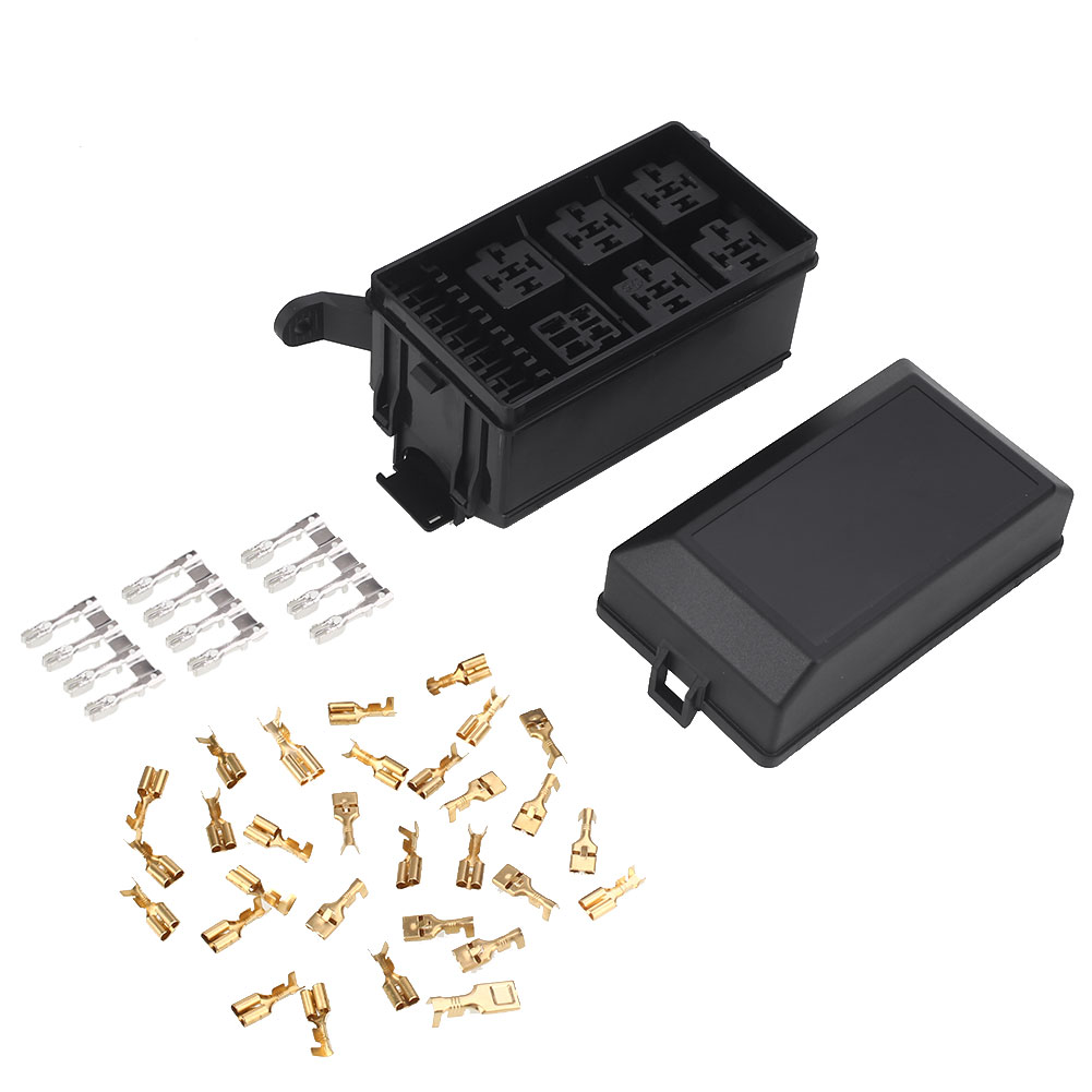 Cut Rate 5 Road Dc 12v 20a Fuse Box Holder Car Socket Kit On Spare Premium Universal