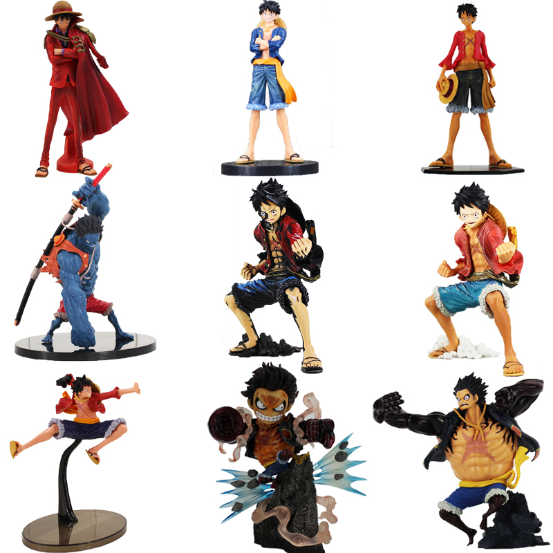 Anime One Piece Luffy Figure Toy Monkey D Luffy Gear 4th Haki Scultures Big Nightmare Luffy Action Figure Gift for Children one piece gear fourth luffy action figure monkey d luffy pvc figure toy brinquedos one piece anime 28cm diorama figurine