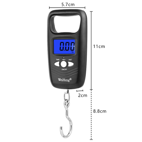Portable 50kg x 10g Traveling Luggage scale Electronic Weight Scales for fishing suitcase digital Steelyard weight Balance Multan