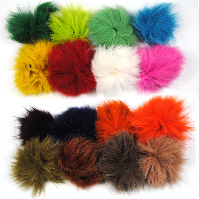 Wifreo Fox Tail Hair for Tube Fly Jig Streamer Fly Tying Material Brown White Red Green Olive Pink Yellow Chartreuse