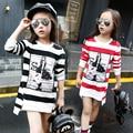 Camisetas de las muchachas embroma la camiseta tops chica adolescente ropa de algodón camiseta de manga larga de los niños del otoño del resorte para 3 ~ 14 años de moda MC27
