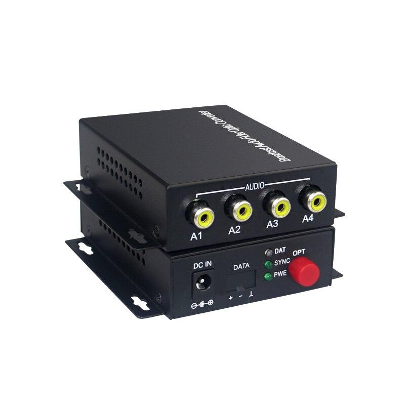 Audio Broadcast Fiber Transceiver 4 channel audio optical converter mode single fiber 20KMAudio Broadcast Fiber Transceiver 4 channel audio optical converter mode single fiber 20KM