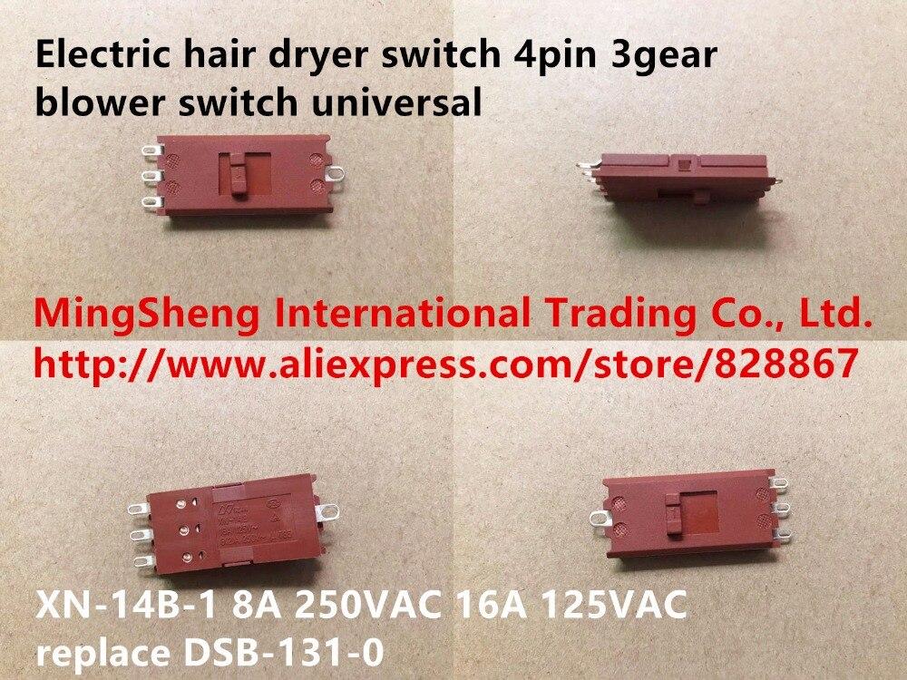 Оригинальный новый 100% электрический переключатель фена для сушки волос, 4-контактный 3-зубчатый переключатель вентилятора, универсальный п...