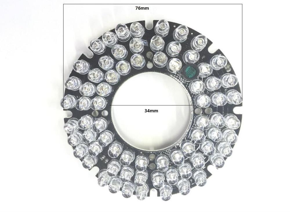 CCTV 36 PCS LEDs  Infrared IR Hybrid 45-90 Degrees Bulbs Board  For CCTV Camera