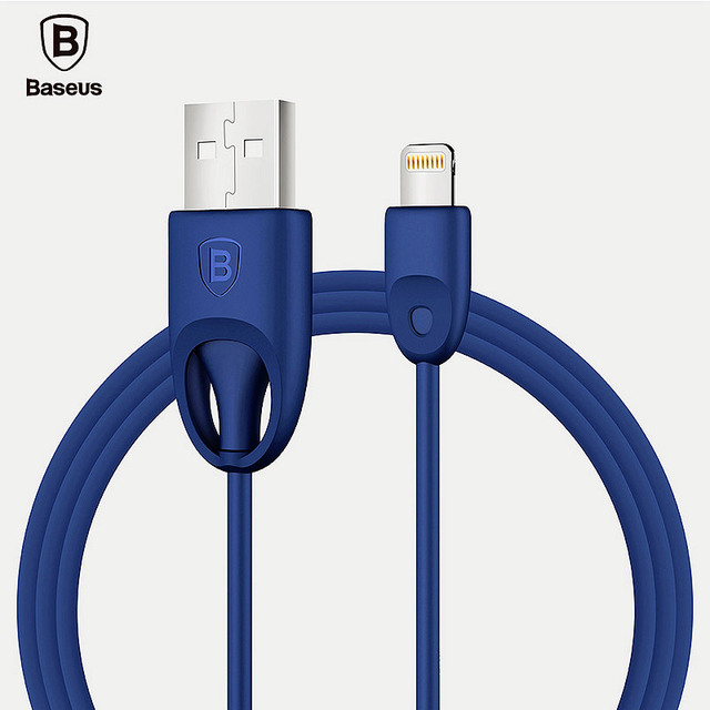 BASEUS MFi Quick Charge Cable for Lightning to USB Cable for iphone 7 6s 6 plus SE 5 flat Charging Data lines Material TPU/PC