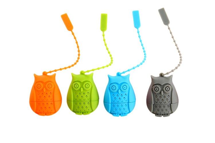 Set of 4 Silicone Owl Tea Bag Creative Silicone Tea Infuser Filter for Mug Tea Pot Empty Tea Bags for Loose Tea Kitchen Accessories (9)