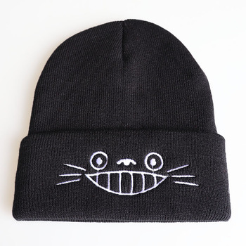 My Neighbor Totoro Anime Hat Cap Hip Hop Beanies Knitted Cartoon Winter Warm Cap Adjustable Cool Embroidery Hat Cosplay Gift 4