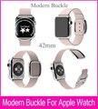 4 цветов оригинальные 1:1 современная пряжки кожаный ремешок для Apple , часы полоса 42 мм из нержавеющей стали ремешок для Apple , iWatch