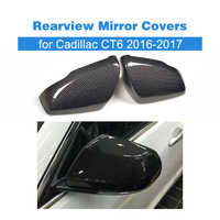 Pair of Replacement Carbon Fiber Side Mirror Caps for Cadillac CT6 Sedan 4 Door 2016 2017 Rearview Mirror Covers Car Styling