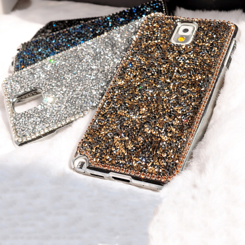 new style fashion texture luxury bling rhinestone shards diamond back cover pretty phone case. Black Bedroom Furniture Sets. Home Design Ideas