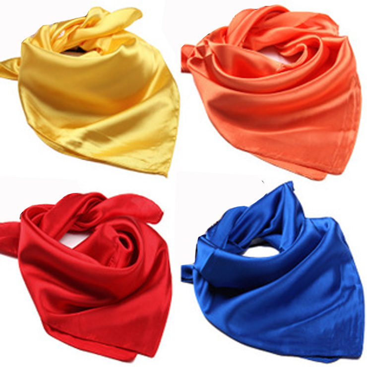 Solid color scarvesWomen wild summer performing rituals small square scarf 60*60 cm