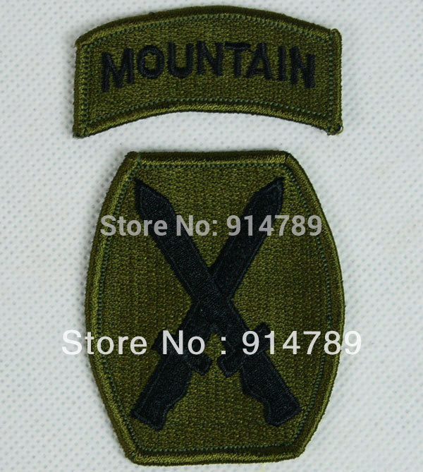 UNITED STATES US 10TH MOUNTAIN EMBROIDERED PATCH -32297