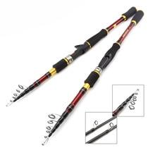 лучшая цена cheap 1.8m 2.1m 2.4m 2.7m Carbon Rod Telescopic Fishing Rod M Power Casting Spinning Rod Travel Trout pole 7-28g 6-12LB