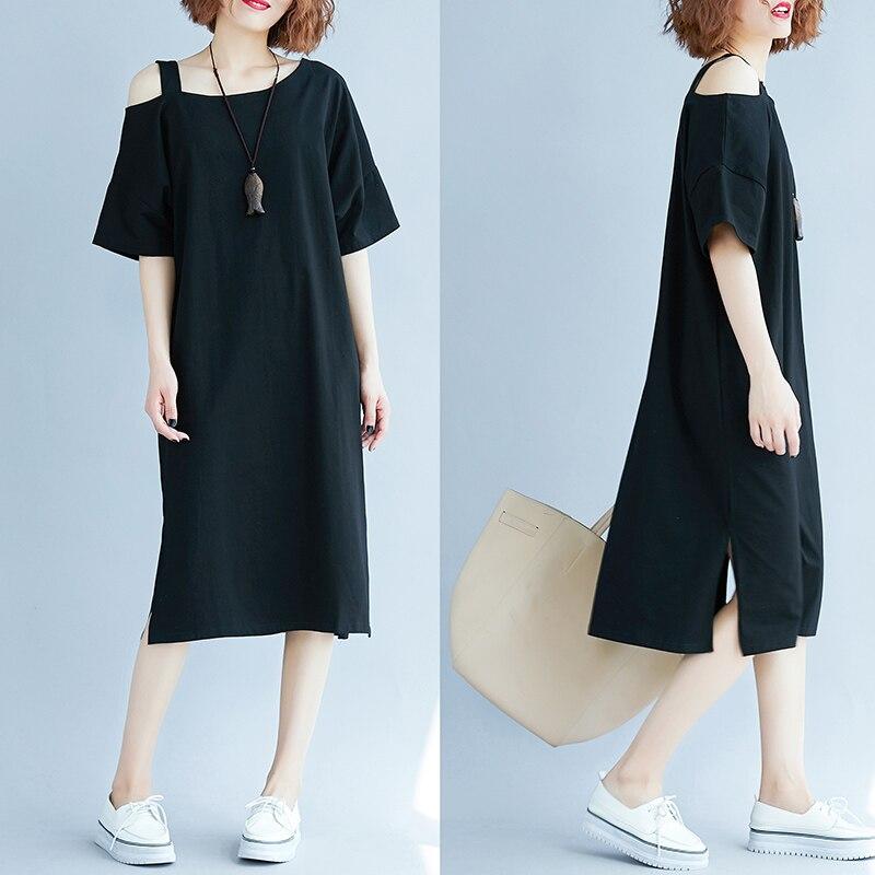 Plus Size Brief Maternity Dresses Cotton Clothes For Pregnant Women Maternidade Pregnancy Dress Black Clothing 3XL