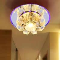 Lámpara de techo con agujero para pasillo LED 1 lámpara de cristal para porche SD123