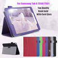 New Top Quality  PU Handheld Stand Tablet Case With Card Slots For Samsung Galaxy Tab A 9.7 SM-T550 /T551/T555