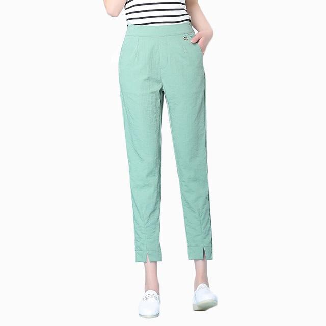 ab0726fdc61 Casual pants female 2018 Korean summer new slim harem pants womens candy  colors high waist harem