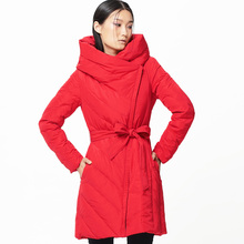 LYNETTE'S CHINOISERIE – Qing Chen 2016 Winter Original Design Women 90 White Duck Down Slim Brief Down Jacket Coat with A Hood